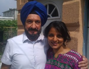"with Ben Kingsley in ""Learning to Drive"""